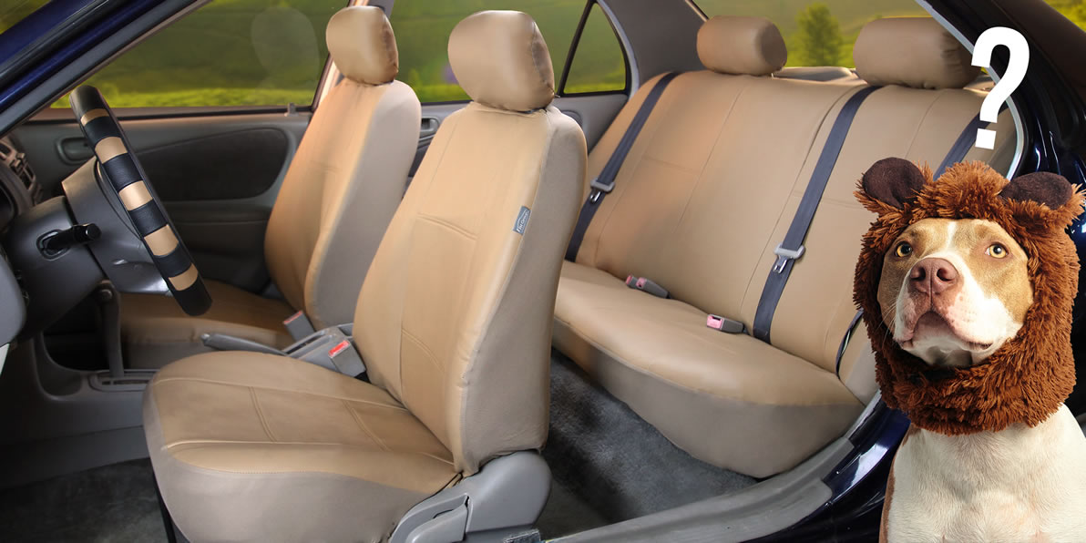 faux leather seat cover