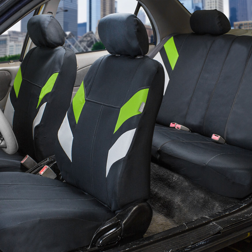 green neoprene seat cover