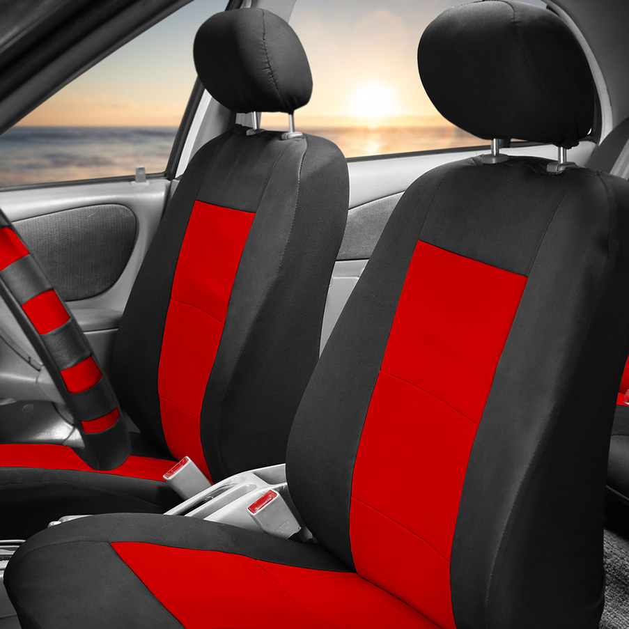 red neoprene seat covers