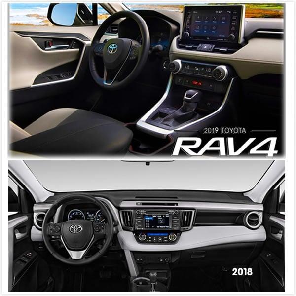Toyota RAV4 2019 vs Toyota RAV4 2018 (interior)