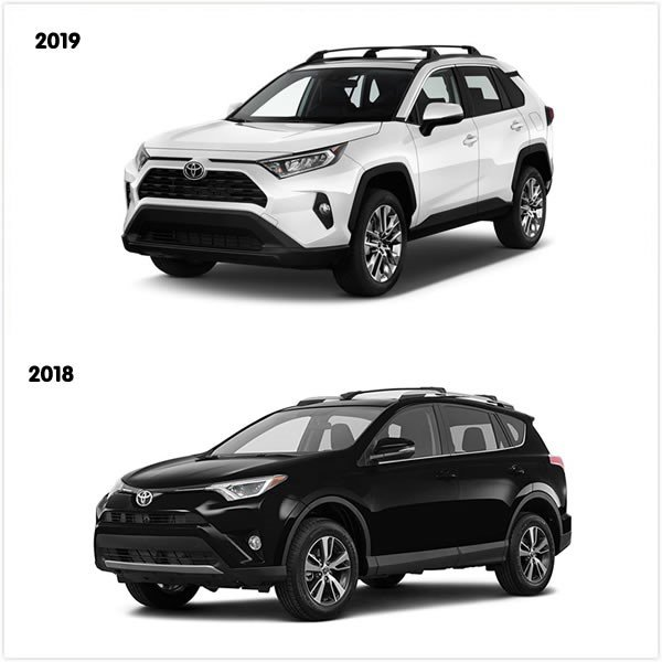 Toyota RAV 2019 VS Toyota RAV 2018 (exterior)