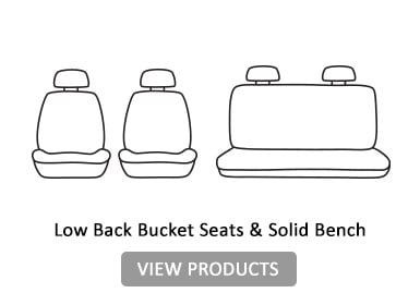 low back bucket & solid bench