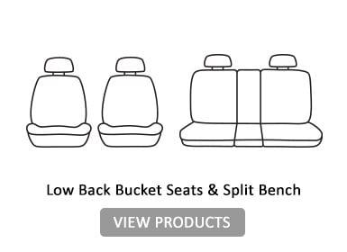 low back bucket seats & split bench