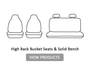 High Back Bucket seats & solid Bench