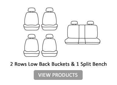 2 rows low back bucket & 1 split bench