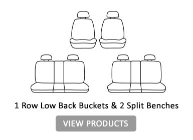 1 row low back buckets & 2 split benches