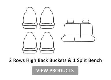2 rows high back buckets & 1 split bench