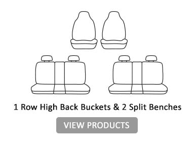 1 row high back Buckets & 2 split benches
