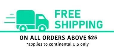 Free Shipping on all order over $25