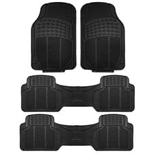3 Row High Quality Liners Trimmable Vinyl Car Floor Mats-Full Set