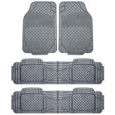 Semi Custom Trimmable Liners Vinyl Car Floor Mats 3 Row