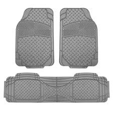 Semi-Custom Liners Trimmable Vinyl Car Floor Mats- Full Set
