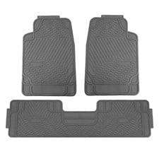 3 Piece Heavy Duty Rubber Liners ClimaProof Trimmable Car Floor Mats- Full