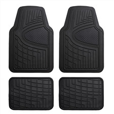 Premium Liners Tall Channel Trimmable Rubber Car Floor Mats- Full Set