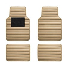 Universal Liners Heavy Duty Faux Leather Car Floor Mats Anti-Slip Backing