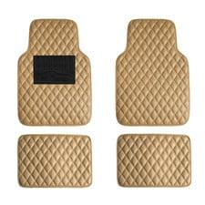 Luxury Universal Liners ClimaProof Heavy Duty Faux Leather Car Floor Mats Diamond Design
