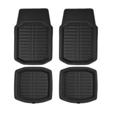 Faux Leather Floor Liners Deep Tray Car Floor Mats- Full Set