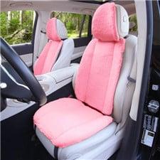 Doe16 Faux Rabbit Fur Car Seat Cushions -Front Set