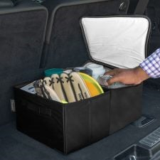 Dual Purpose Trunk Organizer with Insulated Cooler