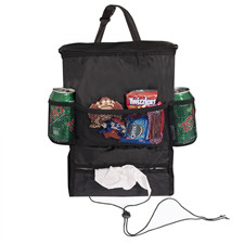 E-Z Travel Hanging Back Seat Organizer with Insulated Cooler