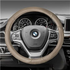 Deluxe Full Grain Authent-Leather Steering Wheel Cover
