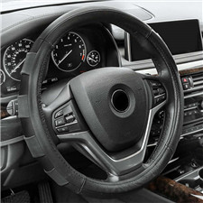 Genuine Leather Sport Steering Wheel Cover
