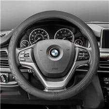 Embossed Microfiber Leather Steering Wheel Cover