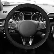 Sleek & Sporty Genuine Leather Steering Wheel Cover