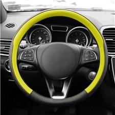 Geometr-Ch-Genuine Leather Steering Wheel Cover