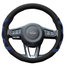 Universal Leather Car Steering Wheel Cover with Silicone Anti-Slip Grip