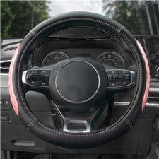 Ultra Grip Silicone & Faux Leather Steering Wheel Cover