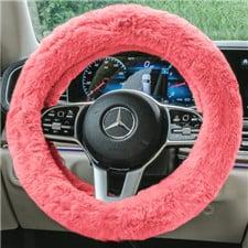 Doe16 Faux Rabbit Fur Steering Wheel Cover
