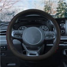 Genuine Leather Lace-Up Steering Wheel Cover