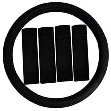 Modernist-Steering Wheel Cover and Seat Belt Pads
