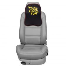 We Are Young/Life Is Fun Headrest Cushion with Memory Foam