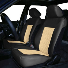 Quality Faux Leather Diamond Pattern Car Seat Cushions -Front Set