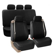 Built-in Seat Belt Compatible PU Leather Seat Covers