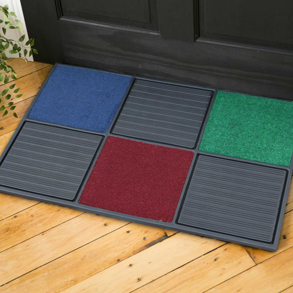 Multiple Color Rubber Utility Doormat material