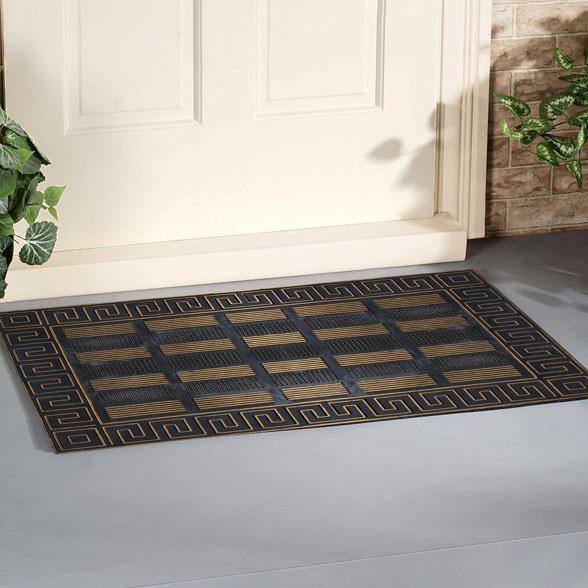 Golden Trim Scraper Rubber Utility Doormat material