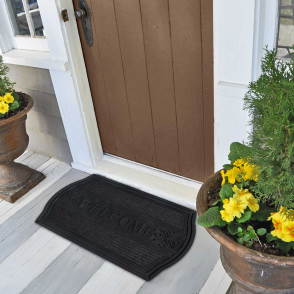 Framed Welcome Rubber Utility Doormat material