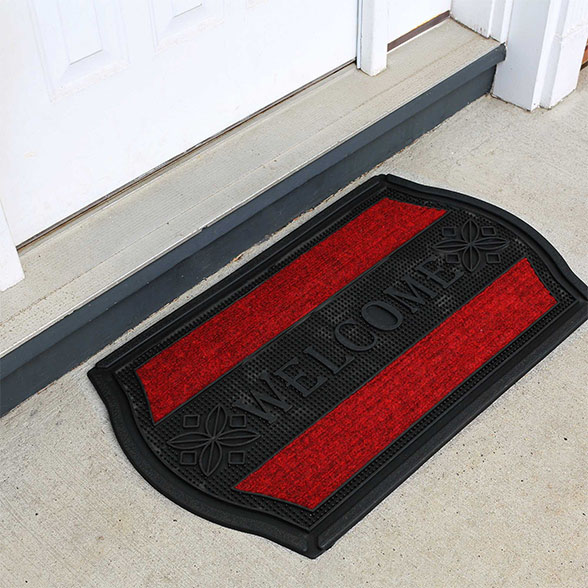 Welcome To Home Rubber Utility Doormat material