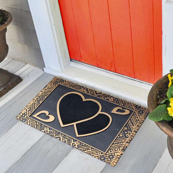 Cupid Heart Rubber Utility Doormat material