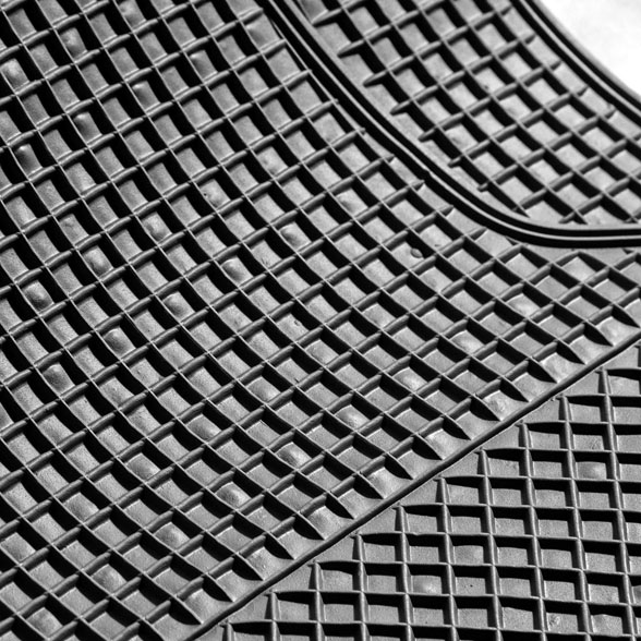 Anti-Slip All Weather Floor Mats - Checker Style material