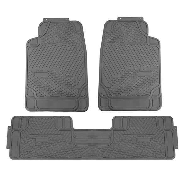3 Piece Heavy Duty Rubber All Weather Floor Mats
