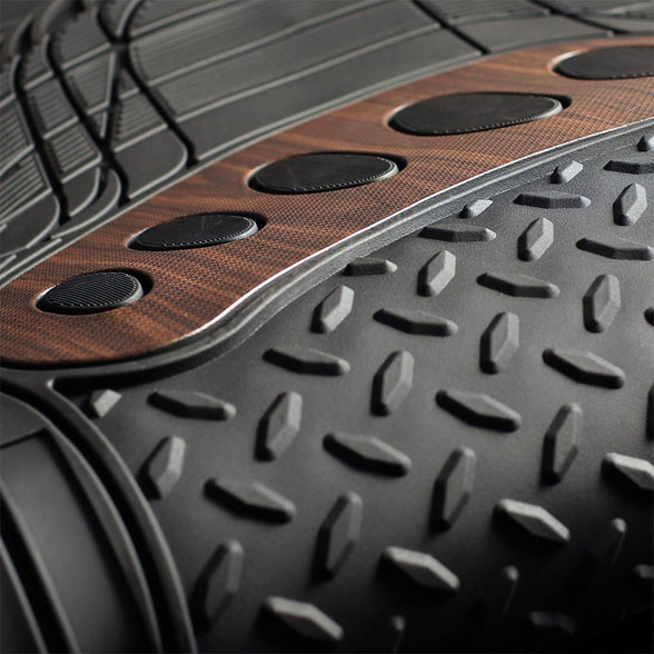 Trimmable Rubber Floor Mats With Wood Design material