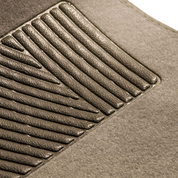 Carpet Front Floor Mats with Heel Pad - Front Set material