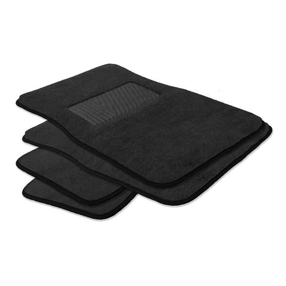 Carpet Rear Floor Mats with Heel Pad - Rear Set material