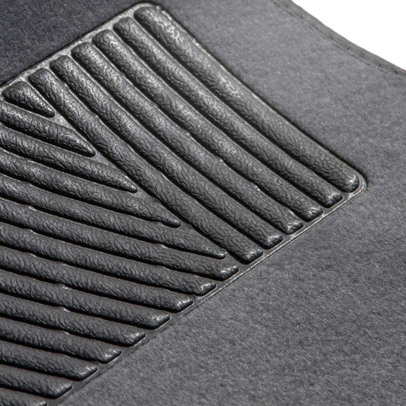 Carpet Floor Mats with Heel Pad material