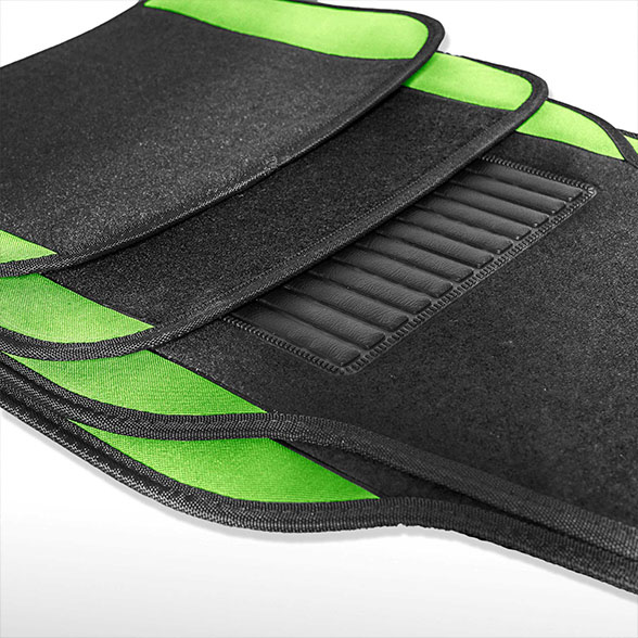 Carpet Liners Car Floor Mats With Colored Trim - Full Set material