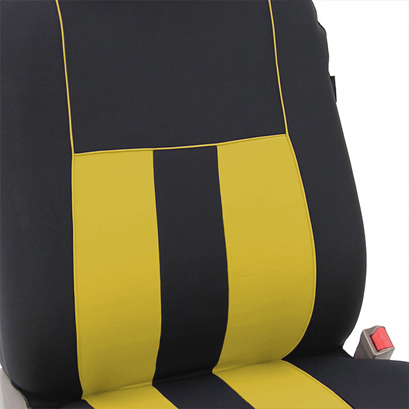 Striking Striped Seat Covers - Front material